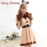 0914 トナカイ4点セット サンタ  Christmas 衣装 コスプレ コスチューム