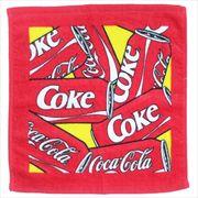《日用品》コカコーラ プリント ウォッシュタオル/缶