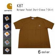 carhartt(カーハート)K87 ポケット付 Tシャツ ワークウエア 半袖Tシャツ 大き目のサイズあり