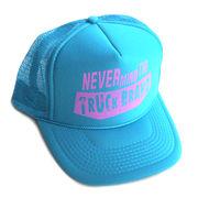 トラックブランド(Truck Brand)MINDロゴ入りメッシュキャップ/ターコイズブルー×ピンク