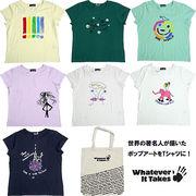 ◆大きいサイズ/キャンバスバック付きアートワークプリントTシャツ!