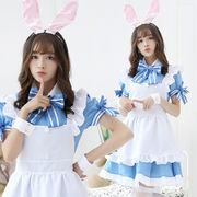 【即日出荷】カチューシャ付き メイド服 アイドル風  コスプレ衣装 【7805】