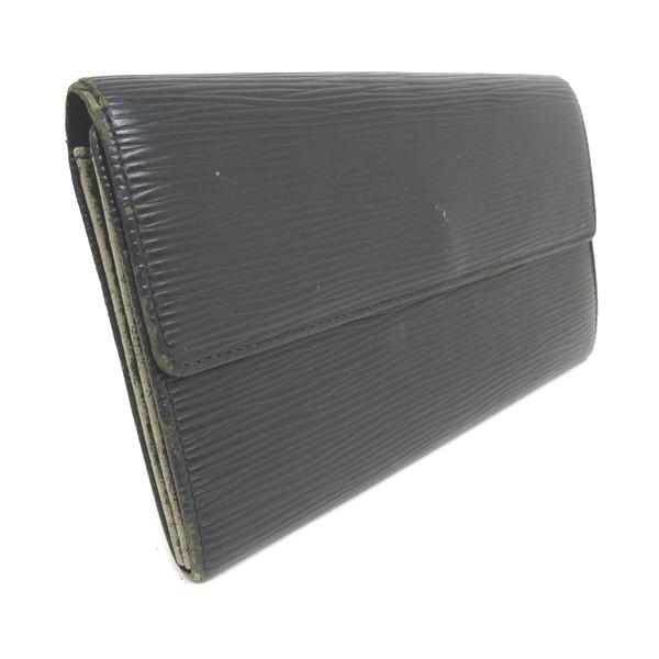 new concept d8ae8 19e7a ルイヴィトン 財布 二つ折り 長財布 エピ メンズ レディース 黒 ...