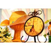 優美なカーブを描くアイアン製のスタンドがオシャレな置時計☆【アイアンスタンドクロック】4種チョイス♪