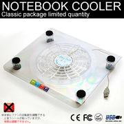 LED付き★電源USB供給★熱ダレ対策の必需品★ノートPC散熱器★