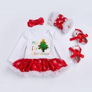 ★女の子 ベビー クリスマス4点セット★カバーオール コスチューム コスプレ 仮装衣装 キッズ 子供服