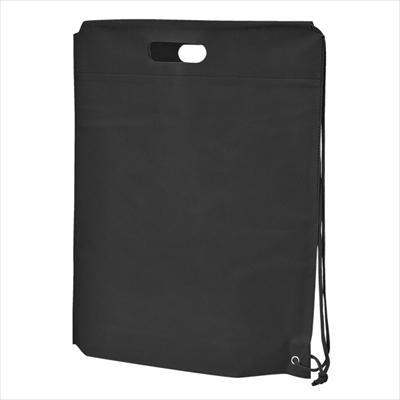 不織布ショルダーバッグ(黒) /名入れ ワンショルダー 軽い 丈夫 ノベルティ 景品