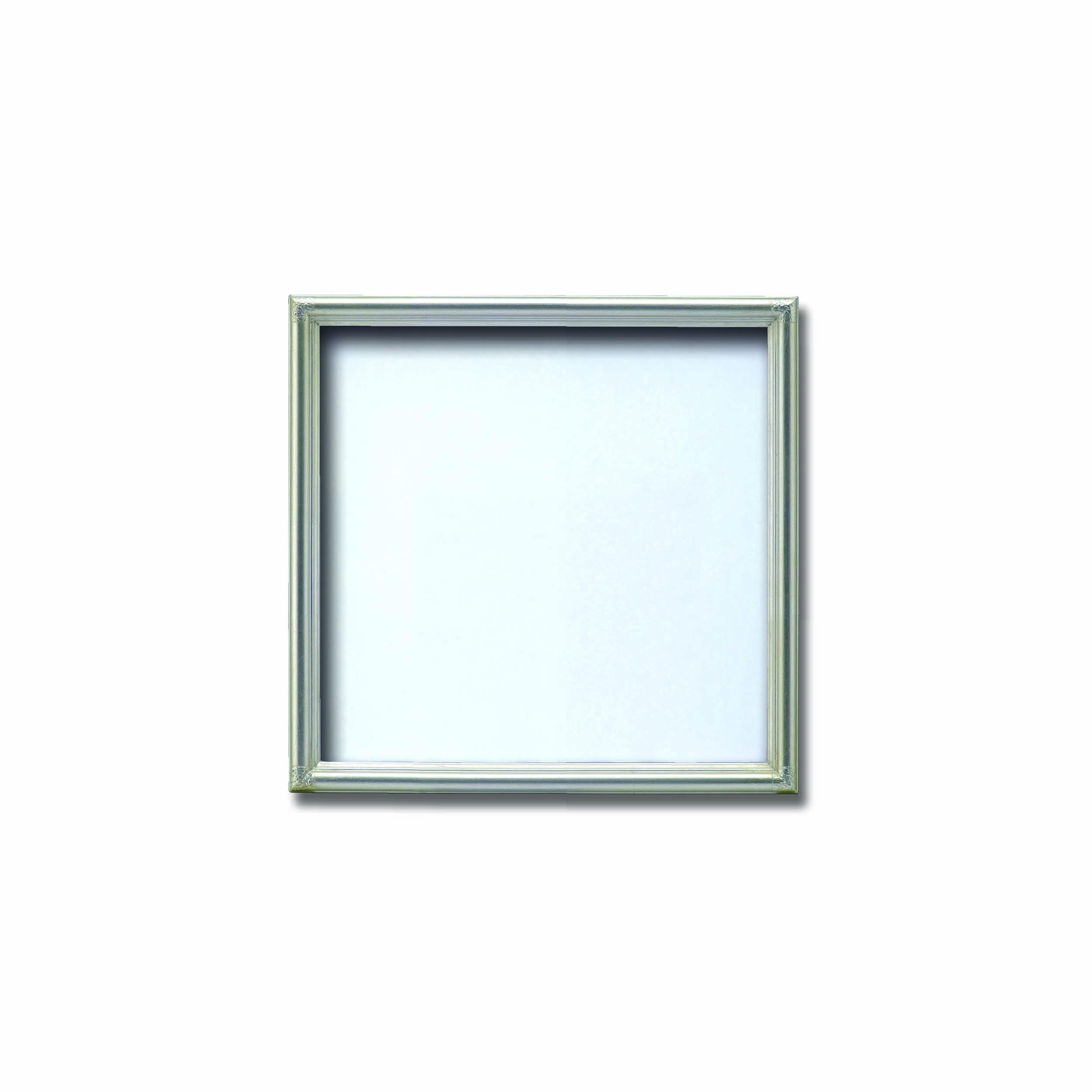 【角額】アルミ正方形額・壁掛けひも・アクリル付き ■7517 250角(250×250mm)