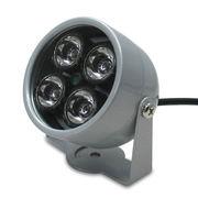 赤外線LED4灯 補助照明 光量センサー付 自動点灯 照射角60度 検知照度約10LUX