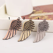 DIY用デコパーツ天使の羽チャームパーツ - 手芸 クラフト 生地 材料   全3色