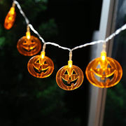 ハロウィン LED 10球 20球 イルミネーションライト ウォームホワイト ホワイト かぼちゃ