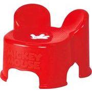 錦化成 子供椅子 ミッキーマウス キャラ・スツール レッド