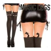MusicLegs(ミュージックレッグ) デビルフェイス&テールストッキング/タイツ 7167