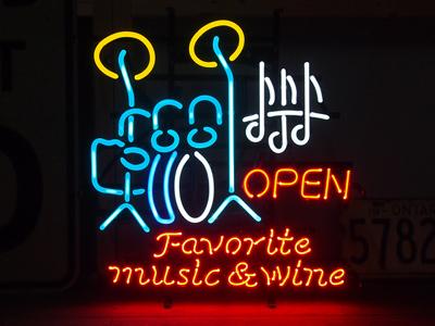 ネオンサイン【FAVORITE MUSIC&WINE】フェイバリットミュージック&ワイン