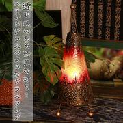 トライアングルレジンランプ【型番号2ba7-4】アジアン エスニック