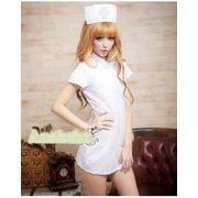 看護婦 ナース 制服 コスチューム コスプレ ハロウィン 仮装 衣装 3点セット XLサイズ bwn1055-6