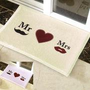 ▽予約▽マット(40x60cm)Mr&Mrs[int-161]