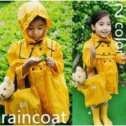 bc136492◆送料0円◆お嬢様風 雨の時 防雨 雨がっぱ 子供レインコート 2色入