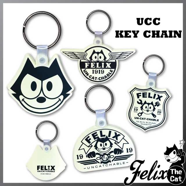 [FELIX] ラバーキーリング・キーホルダー・UCC(アンキャッチャブルキャット)・フィリックス・ザ・キャット