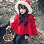 キッズマント キッズ衣装 レッド 帽子付き クリスマス サンタ 衣装 子供 かわいい コート アウター