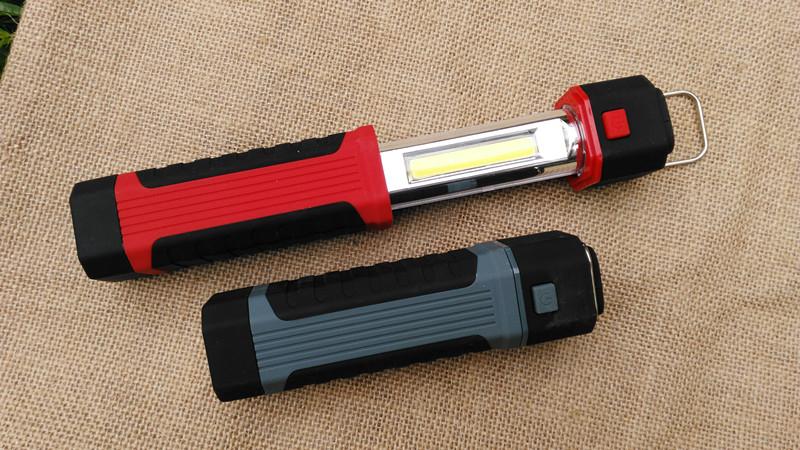 2Wayキャンピングランプ ランタン 懐中電灯 釣り 赤/灰色 作業灯 電池式 マグネット付き 照明 アウトドア