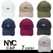帽子 キャップ メンズ レディース ローキャップ 無地 シンプル 刺繍 ロゴ NYC キーズ Keys