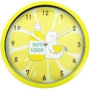 ツイン 掛け時計 シロクマとレモン