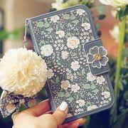 花柄iphonexsケース ストラップ付きiPhone7カバー