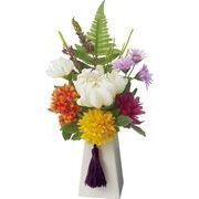 ポピー 造花 仏花 仏壇用マムポット 全長26cm・幅15cm ミックス
