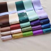 1メートル 両面サテン リボン 幅38mm 20色 緑 紫 茶色 手芸素材