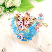 【限定SALE】宝石箱  ジュエリーボックス 【フラワーバード】