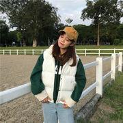 冬服 女性服 韓国風 シンプル 何でも似合う 単一色 襟 シングル列ボタン 手厚い ベス