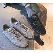 秋冬メンズスニーカー ファッション 靴 カジュアル♪グレー/ブラック2色