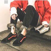秋冬メンズミュール ファッション 靴 カジュアル♪ブラック/グレー2色