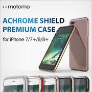 iPhone 8 / 7 8Plus / 7Plus ケース motomo ACHROME SHIELD Premium CASE スマホ カバー クリア バンパー