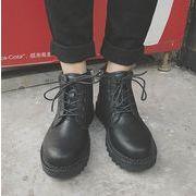 秋冬メンズブーツ ファッション ブラック