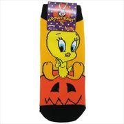 《ファッション》トゥイーティー レディースソックス/ハロウィン かぼちゃ