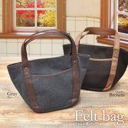 レディース 新作 バッグ 鞄 かばん 女性用 丸い フォルム かわいい フェルト調バッグ  普段使い