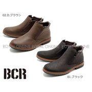【BCR】 BC-543 ダブルジップ 防水ブーツ 全2色 メンズ
