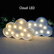 【一部即納】LEDかわいいインテリア ライト 照明/雲 クラウド くも 空 クラウドシェイプ 乾電池式
