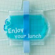 暑い夏のお弁当箱に保冷剤 ぴったりデリ ランチバンド付保冷剤 ブルー(お弁当グッズ ランチグッズ)