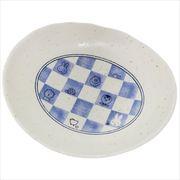 《キッチン》ミッフィー 磁器製楕円プレート/市松