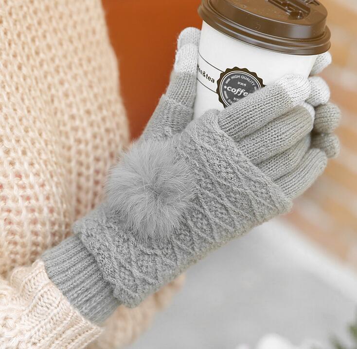 レディース 暖かい手袋 タッチパネル用 ニット手袋 かぶせ付指なし手袋 グローブ