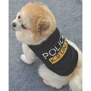 【特価★自社工場】犬服 ペットチョッキ ブラック ペットグッズ 洋服 XS-L 警察