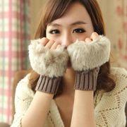 【人気売れ筋】9色  寒さに弱いお方におススメ♪ レディース暖かい 防寒 ファー付き手袋