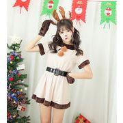 トナカイ衣装 コスチューム  4点セット カチューシャ トナ  かぶりもの ハロウィン クリスマス