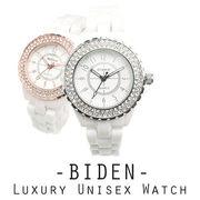 【BIDEN バイデン】日本製ムーブメント セラミックベルトのラグジュアリーユニセックス腕時計 BD001