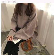冬 韓国風 ルース ニットのセーター 女 長袖 何でも似合う スプリット 風 学生 ボト