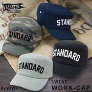 帽子 キャップ ワーク ワークキャップ cap メンズ スウェット ロゴ PENNANTBANNERS