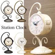 【置き時計/両面時計】新色シルバー入荷 ステーションクロック ボスサイドハンギング♪